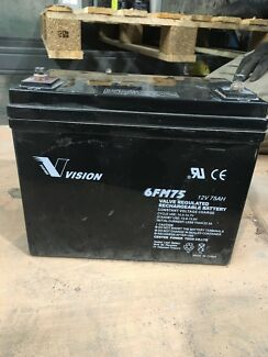 Deep cycle battery 6fm75