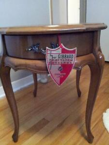 GIBBARD CHERRY oval solid wood end tables! GORGEOUS!