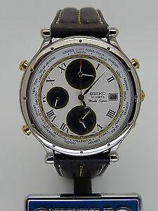 Seiko World time Chronograph with Date Kitchener / Waterloo Kitchener Area image 1