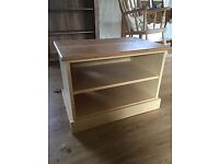 cream and pine country house style tv cabinet / stand