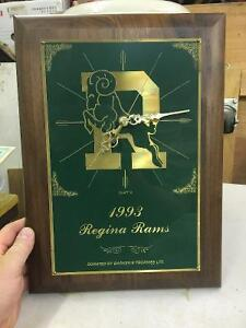 1993 Regina Rams Football Trophy Clock