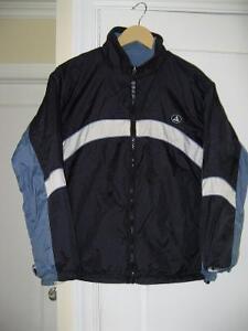 Manteau en toile imperméable avec doublure en polar  Réversible