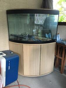 Fish tank and stand, corner unit