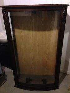 Wooden Glass Display Case- $80 obo Oakville / Halton Region Toronto (GTA) image 1