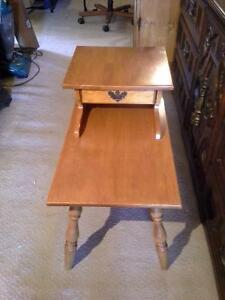 set of vilas maple end tables
