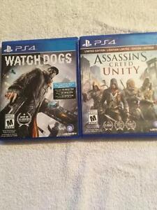 2 jeux ps4 presque neuf 10$ chacun.