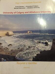 High intermediate Spanish (university of Calgary and Athabasca)
