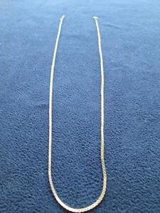 """Ladies' 10kt Yellow Gold 20"""" Box-Link Chain Necklace"""