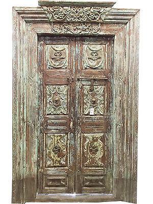 Vintage antique indian door ebay for Take door designs