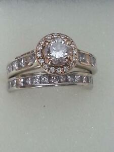 this beauriful size 76 wedding/engagement set was $10,000 new.