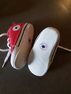 Baby converse and Ralph Lauren shoes size 4
