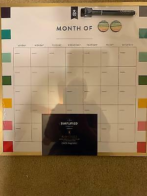 Monthly Dry Erase Calendar Board