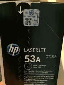 New! HP Laserjet black 53A print cartridge Q7553A Reduced!! Kitchener / Waterloo Kitchener Area image 4