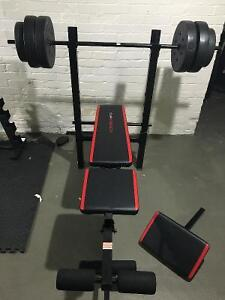 Cap Strength weight bench with 100 lb weights
