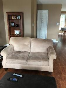 Micro suede couch and loveseat