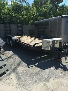 TRAILER DOUBLE AXLE BRAND NEW 18x7 Ft