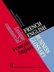 French/English Business Glossary (Business Glossaries)-ExLibrary
