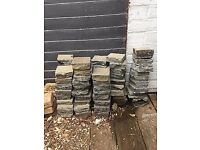 80+ 10cm x 10cm reclaimed paving bricks, slate