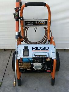 Ridgid 3000-psi 2.6 gpm pressure washer.