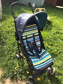 Nanu+ Stroller Blue Stripes Mother care in excellent condition