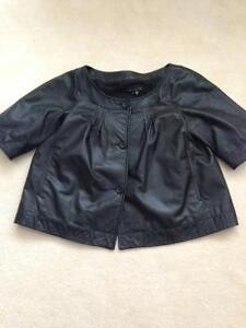 Theory leather coat/ top
