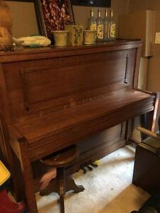 Sherlock Manning oak piano