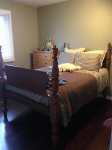 Solid Maple Double Bedframe