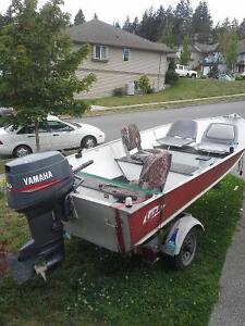 14ft Lund with 30hp Yamaha 2 stroke