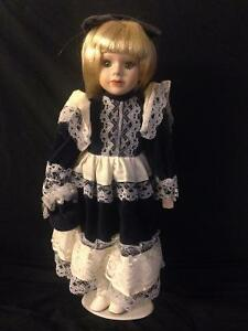 Porcelain Dolls with Stands in Mint Condition Kitchener / Waterloo Kitchener Area image 3