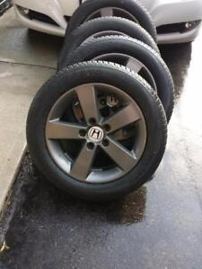 HONDA CIVIC  FACTORY OEM 16 INCH WHEELS WITH BRAND NEW HIGH PERFORMANCE  SAILUN ALL SEASON 205 / 55 / 16 TIRES
