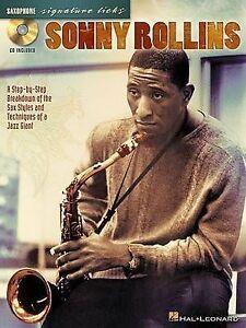 Sonny Rollins: Saxophone Signature Licks by Hal Leonard Corporation...