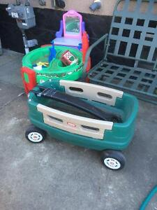 Nice little tykes wagon with removable sides