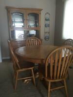 Gorgeous Solid wood dining table and hutch