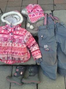 Girl Snowsuit - Souris mini 3T- Costume d'hiver fille