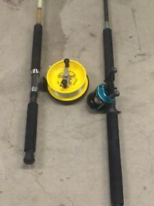 2x fishing rods with reels Kelvin Grove Brisbane North West Preview