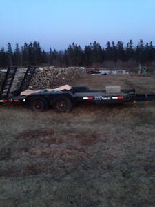 Flat deck 16 ft trailer