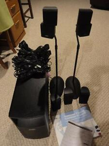 Bose Acoustimass 10 with 2 speaker stands