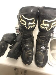 Fox instinct motor cross boots, size 13 + knee/shin guards & kit bag Griffin Pine Rivers Area Preview
