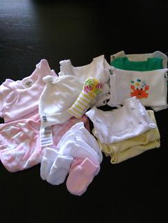 11 Singlets, Mittens Swaddle Love to Dream Newborn Baby Bundle