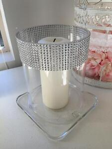 Wedding table centre peace glass with candle