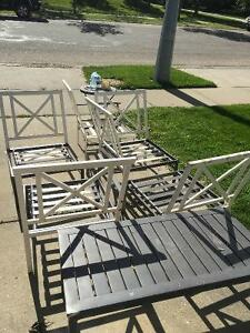 Free patio furniture and nice glass coffee table