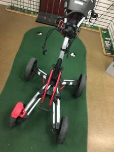 ClicGear 8.0 Push Cart Silver/Red and Silver