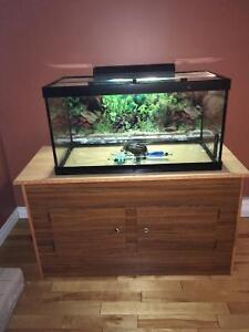 50 gallon aquarium plus homemade stand