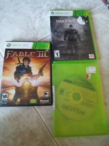 fable 3 darksouls 2 (sealed new) oblivion xbox 360