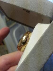Heart Etched 10K Gold Hoop Earrings, NEW NEVER Worn