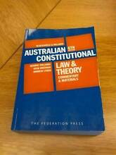 Australian Constitutional Law and Theory - Blackshield & Williams Mitchell Area Preview