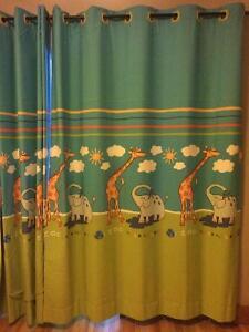 rideaux de très grande taille