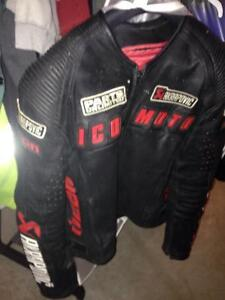 Motorcycle icon akra jacket leather