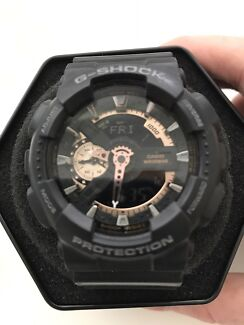 CASIO G-SHOCK Gold Black Watch GA-110RG-1A