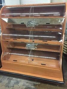 Wooden Bakery Display Merchandiser